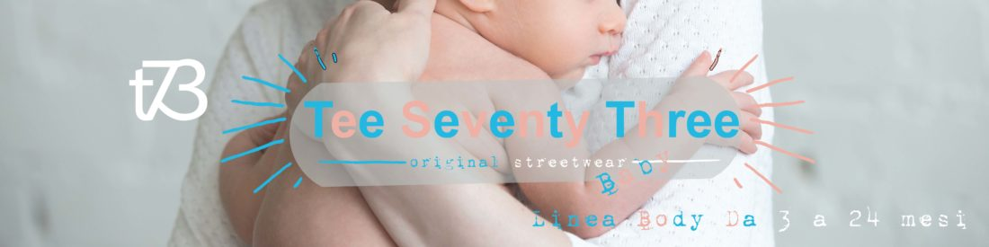 T-Shirt e felpe in cotone organico baby dai 3 ai 24 mesi T73 Tee Seventy Three